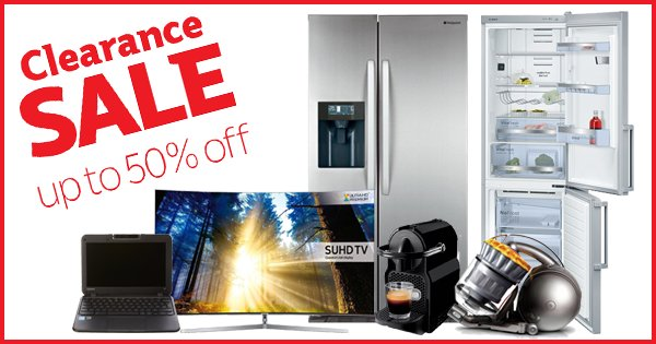 Get up to 50% Off TVs, fridge freezers & everything in between with our Clearance Sale! - https://t.co/e9W1isWzCu https://t.co/YHM91ONVQ7