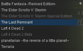 planetarianクリアして、L4D2軽く遊んで、テラリア途中までやってくらいだなあ。steamほんと使ってない