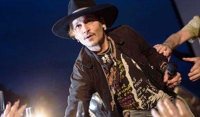 Johnny Depp makes shocking Trump assassination joke at Glastonbury Festival