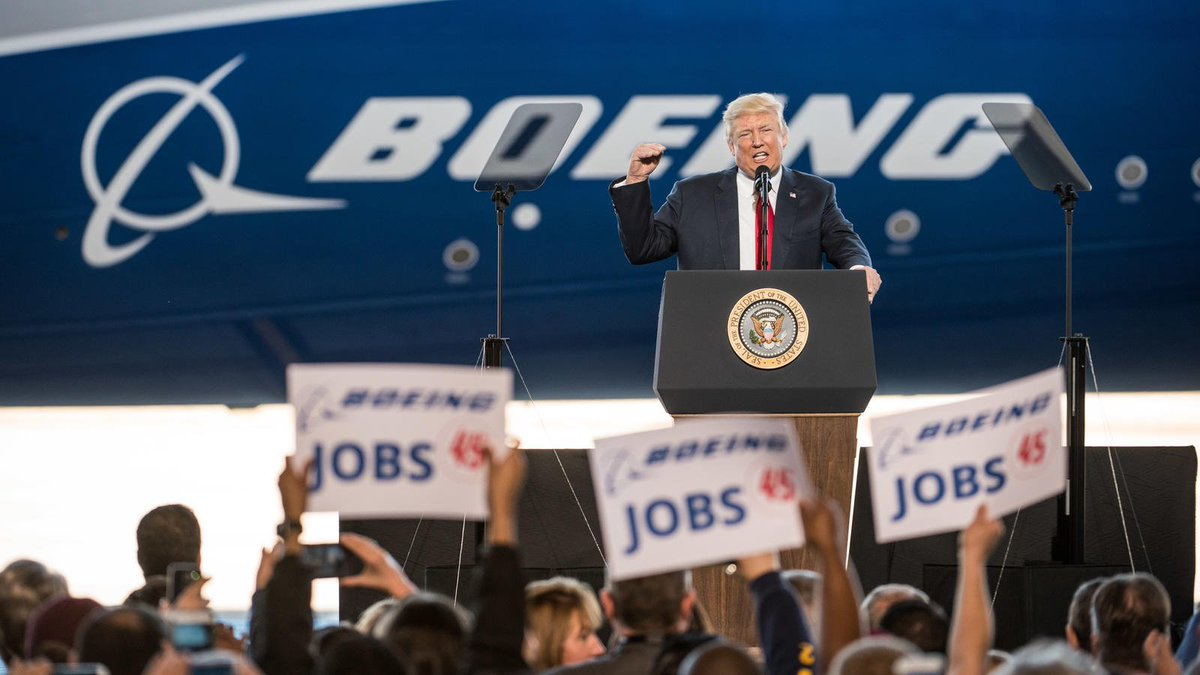 Boeing factory where Trump touted jobs is laying off workers