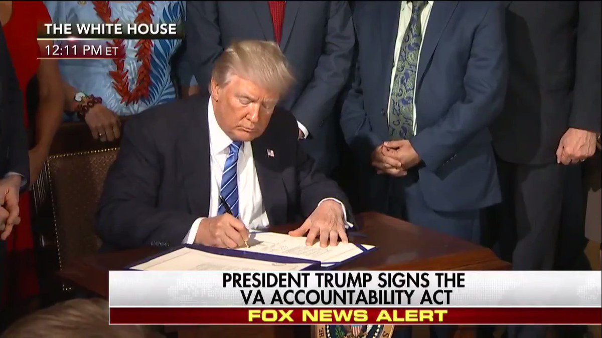MOMENTS AGO @POTUS signs the V.A. Accountability Act.