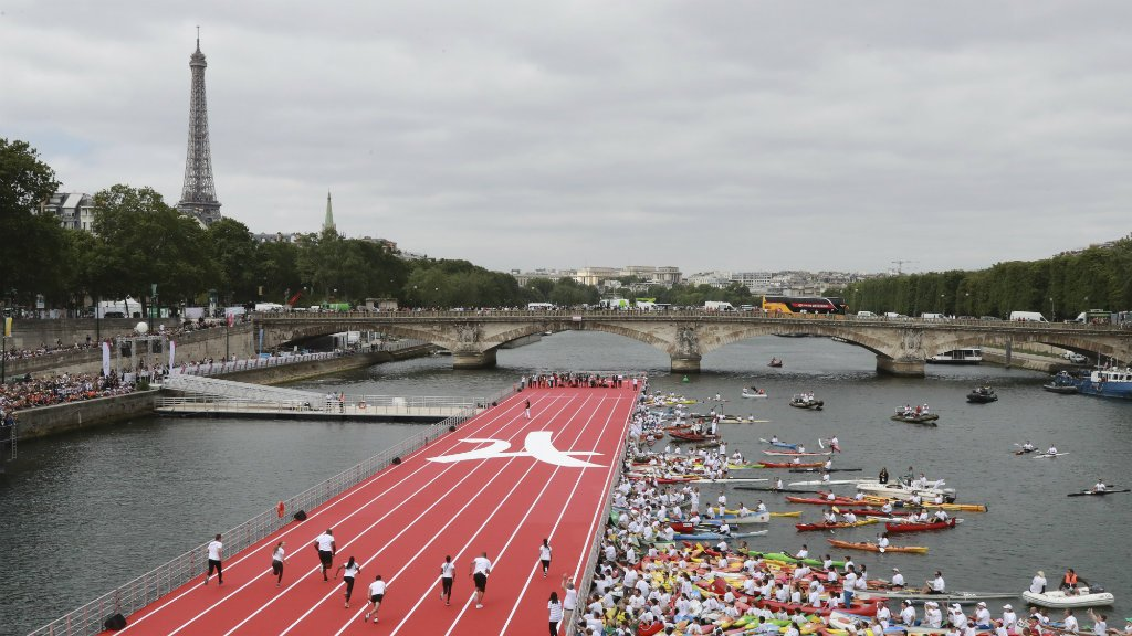 Paris turn on magic for 2024 Olympics: Running on River Seine