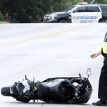 Motorcycle, car collide on busy Sioux City street Friday