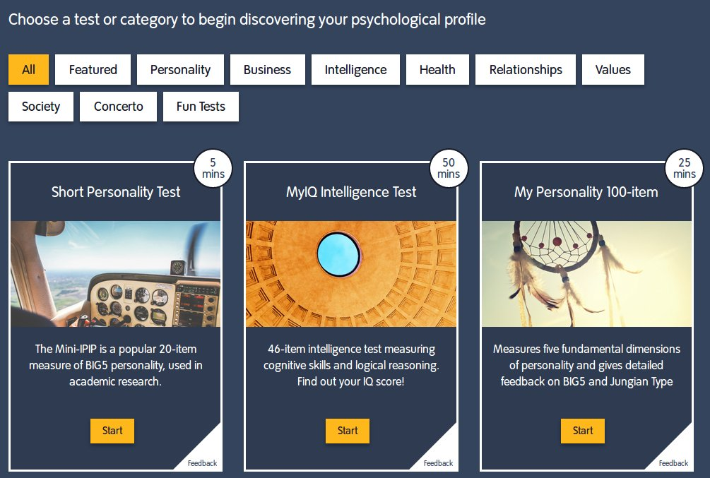 categories of big five personality test Based on a theory developed since 1968 this test is based on common language descriptors of personality and has been very successful for the last 3 decades.