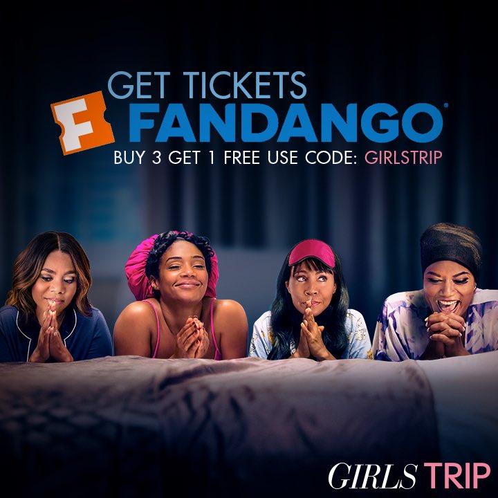 Get yo crew together and get tickets now on Fandango!! #GirlsTrip @girlstripmovie 🔥https://t.co/TUKJcaaB6O https://t.co/N6lg9I16f6