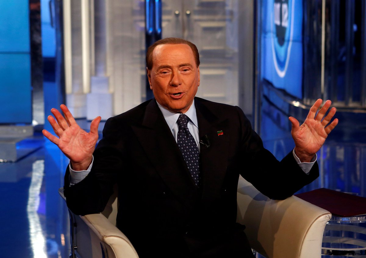 Italy's ex PM, Silvio Berlusconi, says Melania is the best thing about Donald Trump
