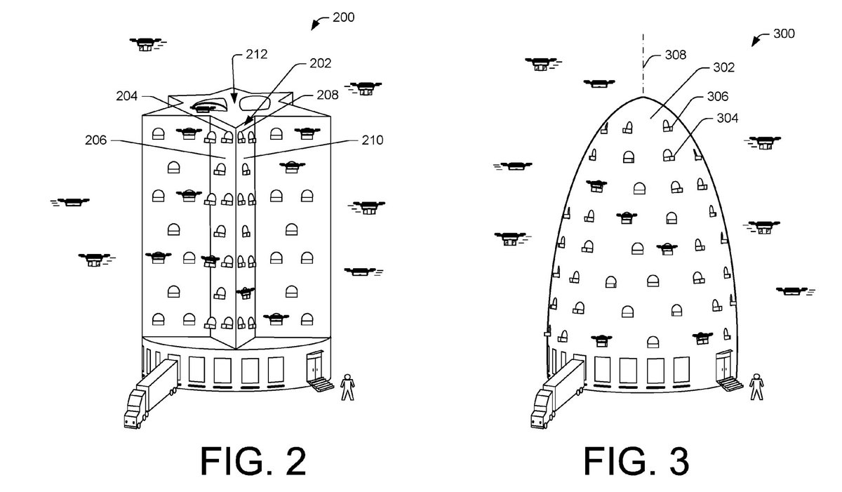 Amazon has patented a beehive tower design for drone delivery in urban areas