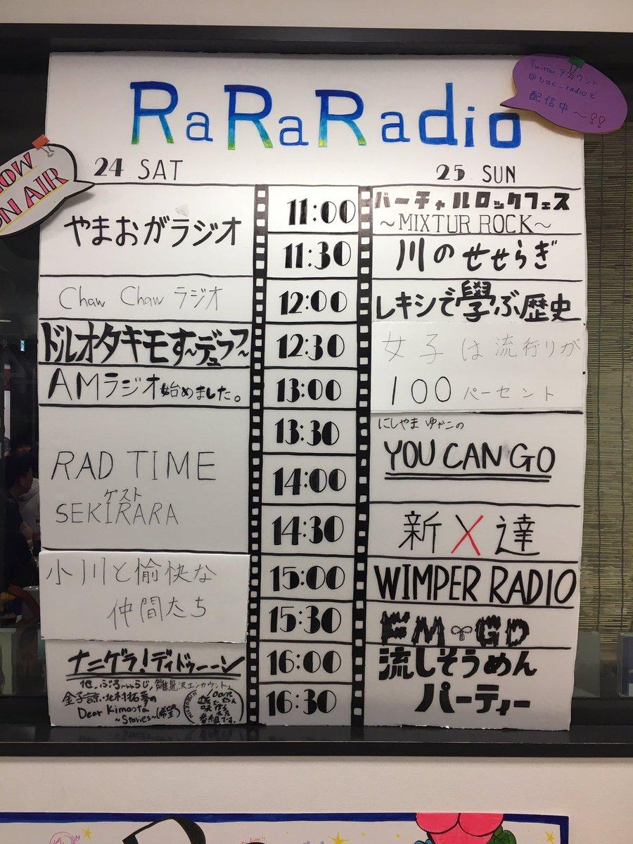 4階ラジオスタジオにて「RaRaRadio」間もなくゲストSEKIRARAさんの公開生放送が始まります!#ドリフェス