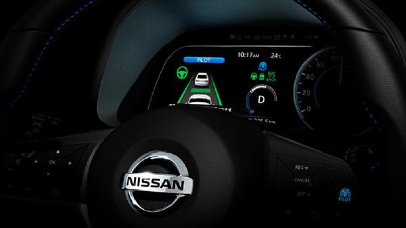 Nissan teases an image of 2018 Leaf's self-driving technology