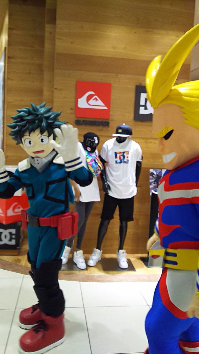 アリオ蘇我のヒロアカイベント楽しかったです!!!一緒に今日のアニメも見たし!!山下さん左手の甲に轟スタンプ…轟出ありがと