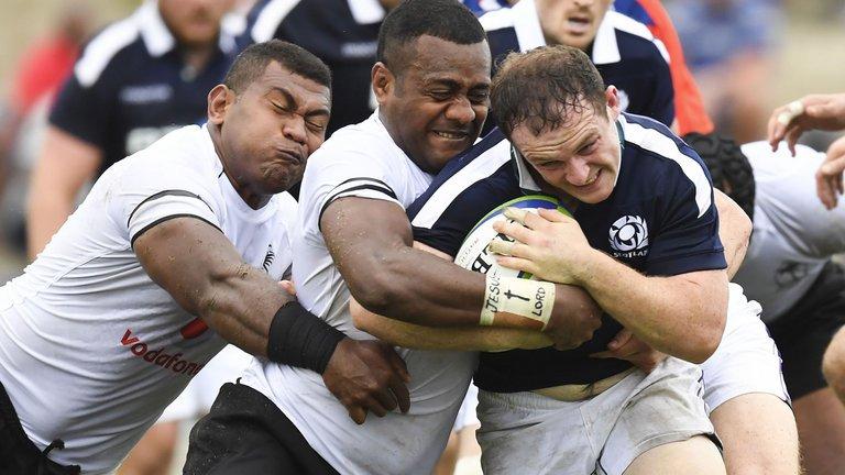 test Twitter Media - Fiji held off a late Scotland fightback to secure a 27-22 victory in Suva: https://t.co/HYK8A94SaO https://t.co/9gWgnNwIDv
