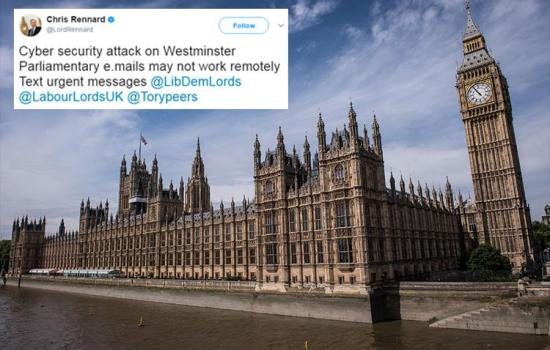 Cyber attackers hit Westminster forcing security chiefs to shut down access to MP's emails