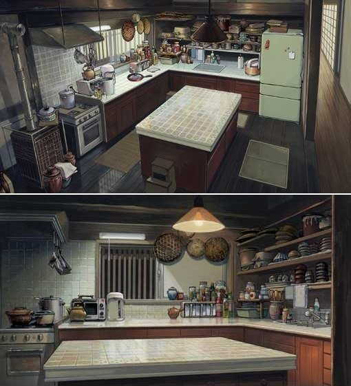 as-warm-as-choco:Amazing background paintings from Summer Wa
