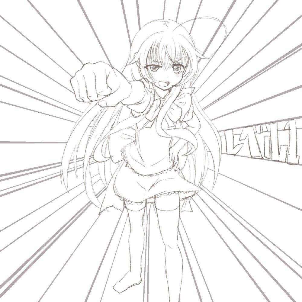 リクエストボックス()より、【ニャル子】です。エグゼイドのモーション諸諸ニャル子さん映えしそう。しかしその銀髪ロングアホ