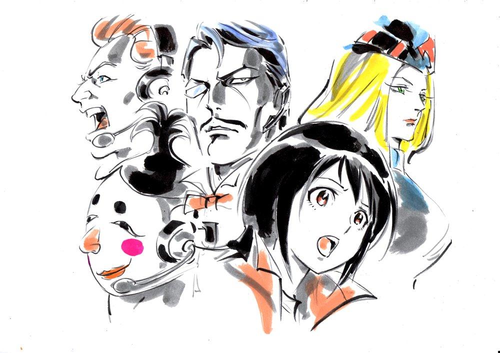 あと、あんまり描かなかった、あるいは今回初めて描いたキャラ群。とにかく春奈ちゃんが難しかったなー。 #タイガーマスクW