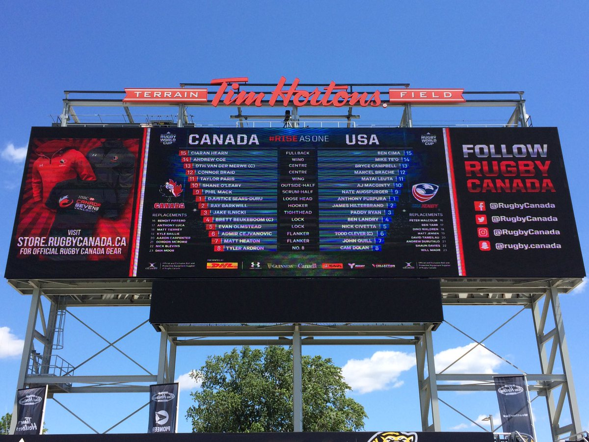 test Twitter Media - With gates about to open at @TimHortonsField all is ready for the action to start @RugbyCanada 🇨🇦 @USARugby 🇺🇸 #RWC2019. Kick-off in 2 hours https://t.co/I6nWKjgiio