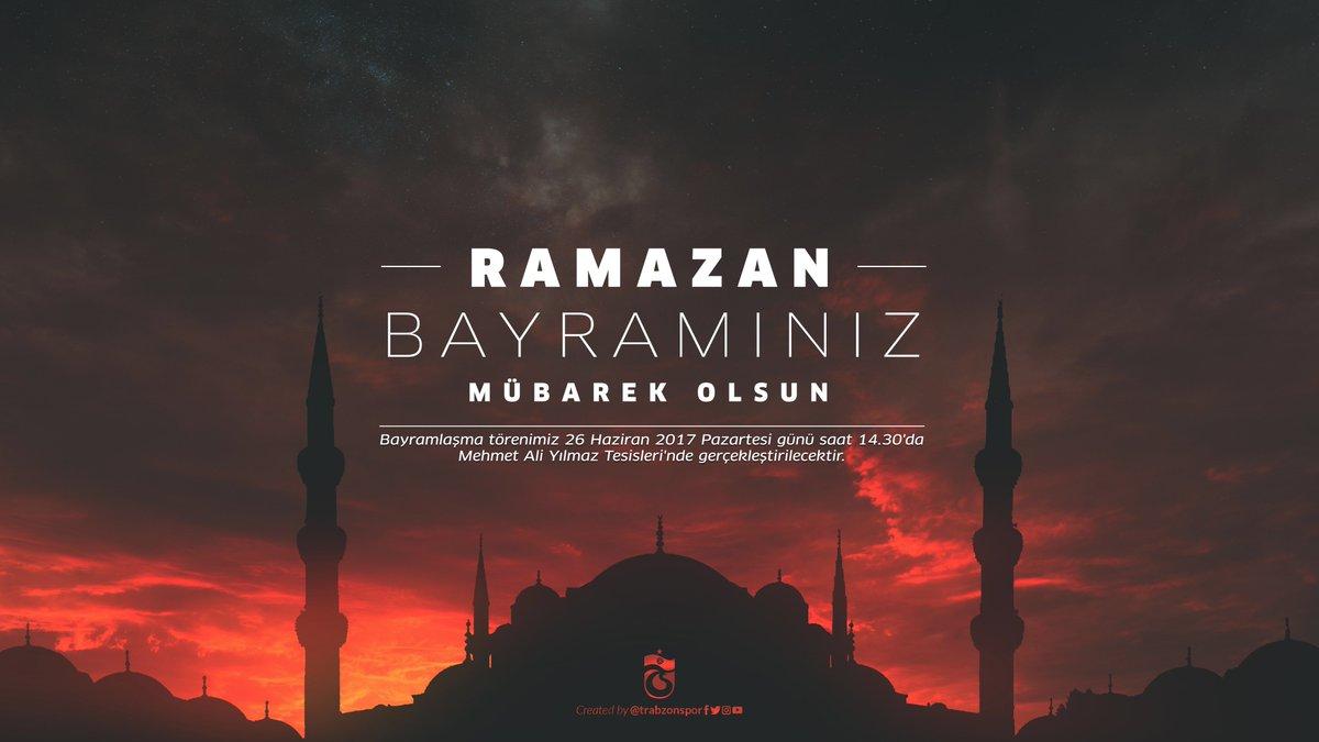 RT @Trabzonspor: Ramazan Bayramınız Mübarek Olsun https://t.co/exliwyLfV9