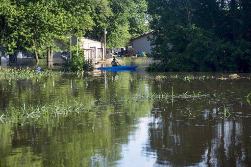 Central Michigan rivers still very high after big storms