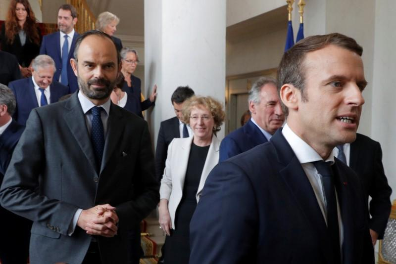 French President Macron, PM Philippe approval ratings rise: poll