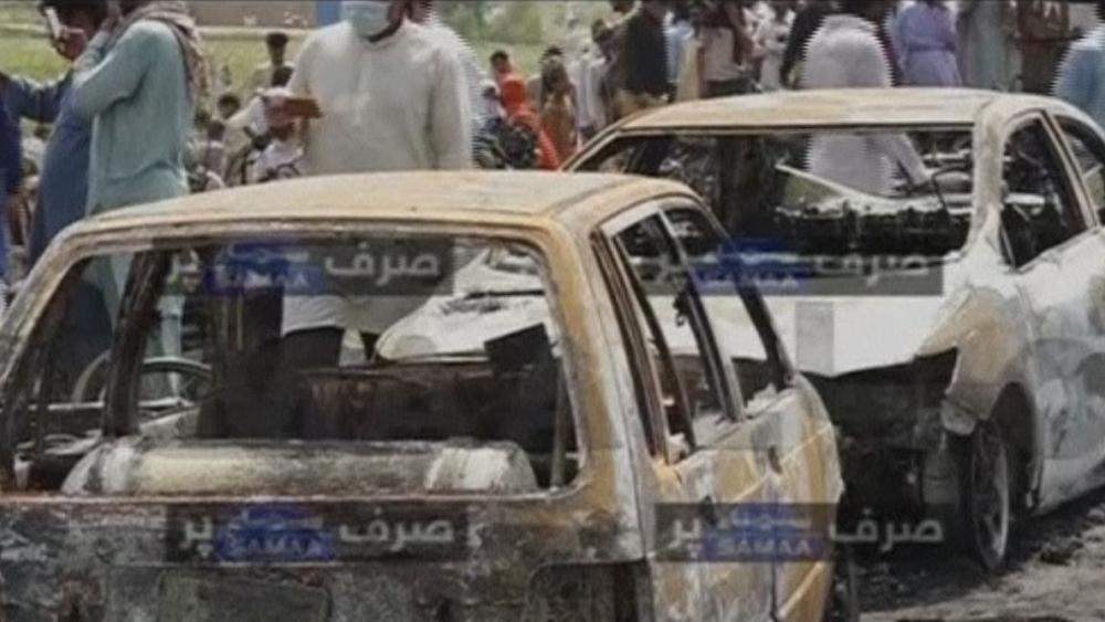 Exploding oil tanker kills more than 100 in Pakistan