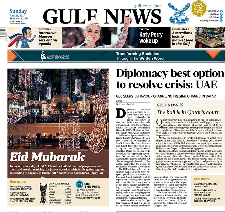 Diplomacy still remains a priority to solve Qatar issue, Gargash says