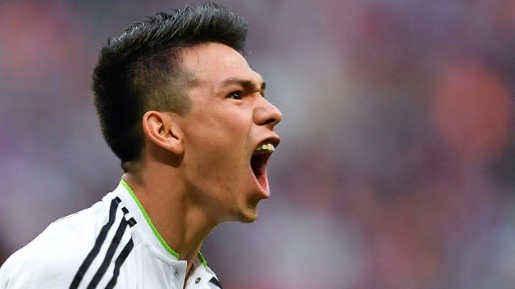 Brave Lozano heads Mexico into Confed Cup football semis