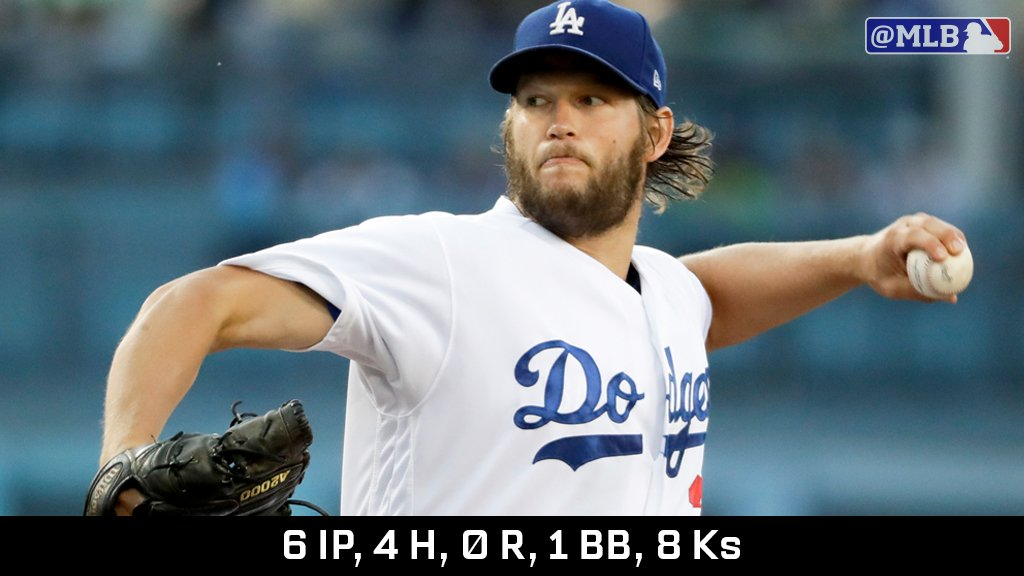 .@ClaytonKersh22 is 93-0 when the @Dodgers give him 4 runs of support.   That is not a typo. https://t.co/r5DELkJTSR https://t.co/32hlF4ZjAU