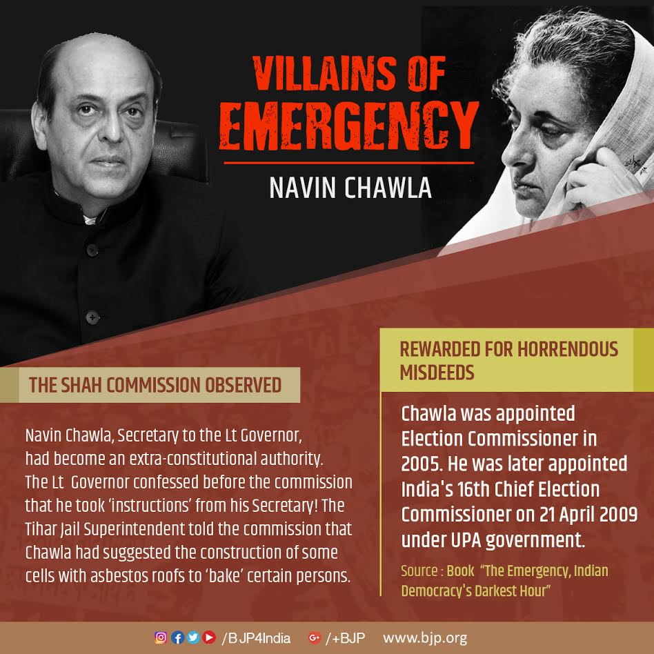 RT @BJP4India: #DarkDays_Emergency : Villains of emergency. https://t.co/iTmo4qPDET