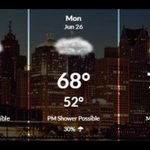 Afternoon showers Sunday afternoon, cooler than average