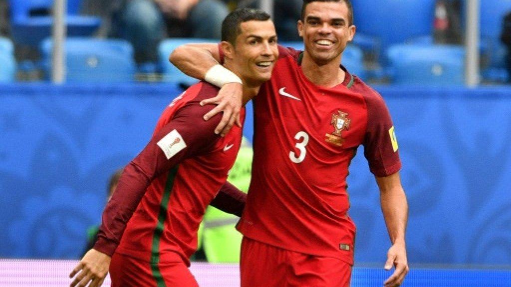 Ronaldo delight as Portugal reach Confed football semis