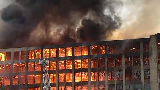 Old Sanford Mill Fire Burns From Friday Night To Saturday
