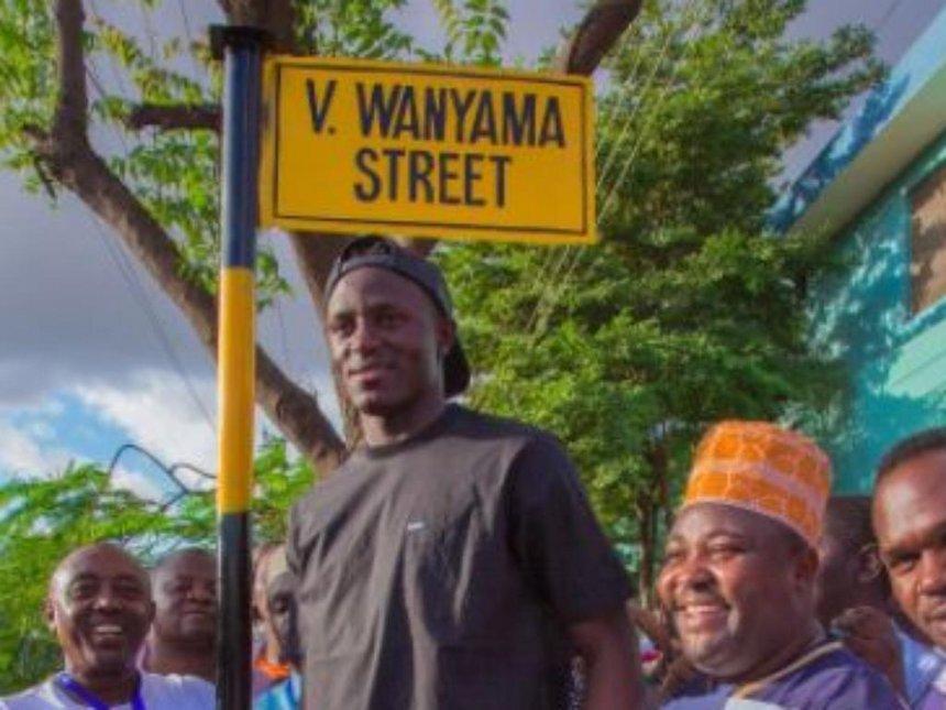 Tanzania honours Victor Wanyama by naming street after him