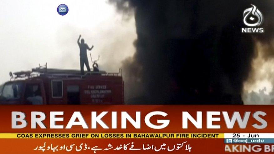 Overturned oil tanker kills 148 after exploding in Pakistan