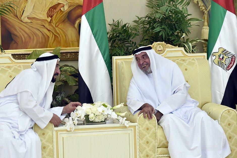 Shaikh Khalifa receives Rulers for Eid Al Fitr