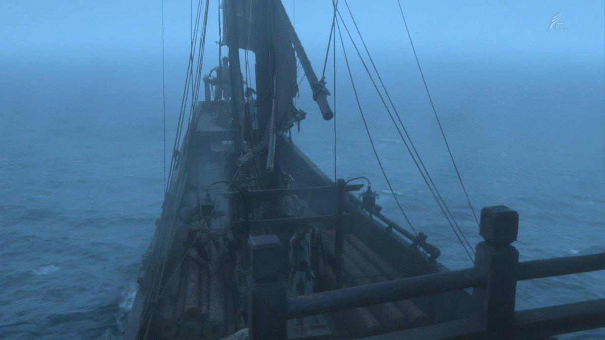 お船のシーンに、海の底の都からも大河ファンタジーからもザッパーン。 #おんな城主直虎#平清盛 #精霊の守り人