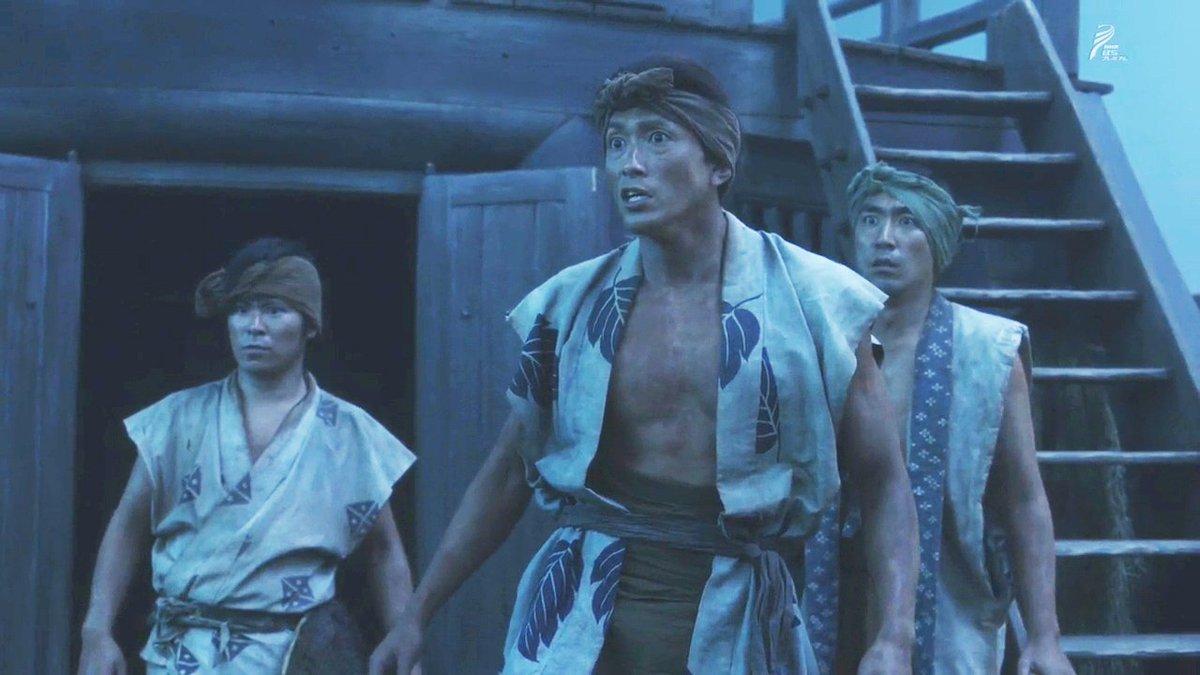 """#おんな城主直虎 材木を三河へ運んでいた船の船長?を演じていたのは """"濱の狂犬"""" の異名を持つ 黒石高大(たかひろ)さん"""