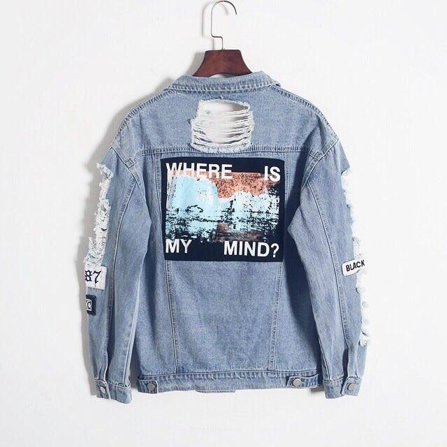 'Where is my mind' denim jacket ��  Shop: https://t.co/2RSZrg8BHP  Free Shipping Worldwide �� https://t.co/FyWPZENhtk