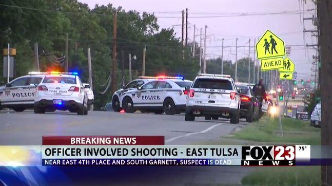 Police say Tulsa officers fatally shoot gun-wieldingman