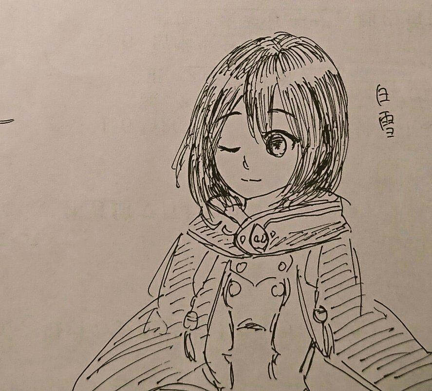 むっつめ!赤髪の白雪姫〜!!少女マンガで一番好き。白雪を描いたはず…だが…(??)
