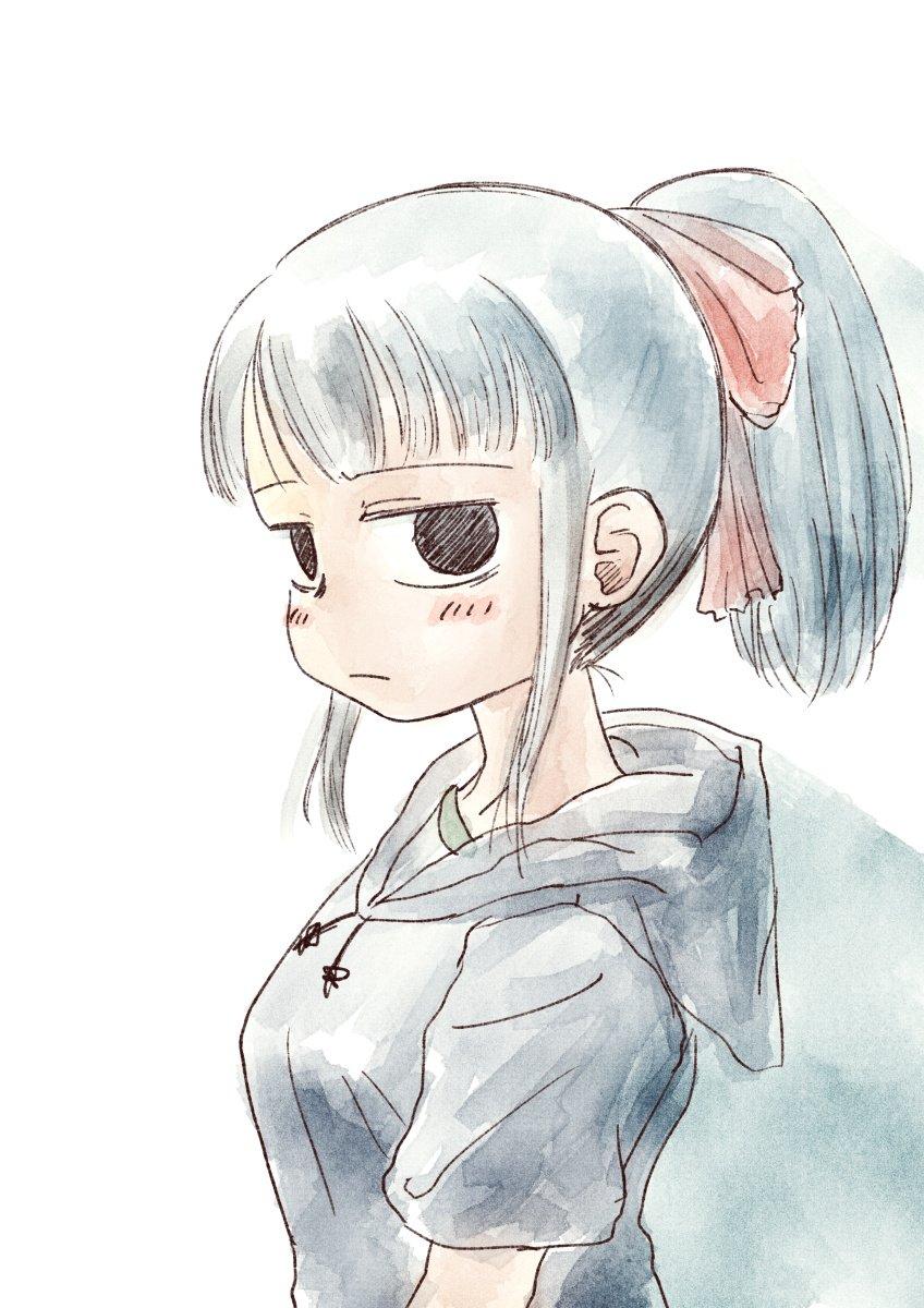 神林 #ド嬢 女の子っぽくないラフな格好いいよねと思いながら描いていたら髪は甘めにしたくなってしまった。リボンとか絶対似