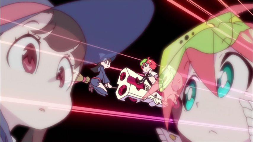 約1年前、宇宙パトロールルル子の最終回でルル子がアッコにバトンを渡してたシーン。リトルウィッチアカデミア、どんな作品にな