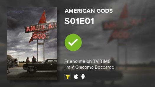 test Twitter Media - I've just watched episode S01E01 of American Gods! #americangods  https://t.co/5pegrVx51l https://t.co/C4IBOO0giR