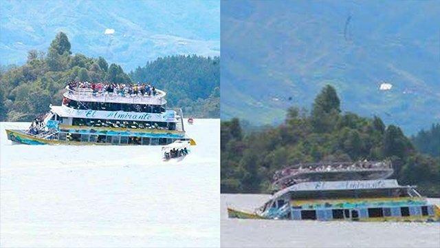 Tourist boat sinks near Colombian city