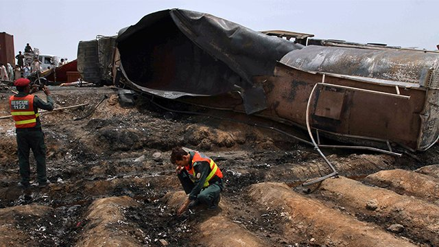 Over 150 killed in Pakistan tanker fire