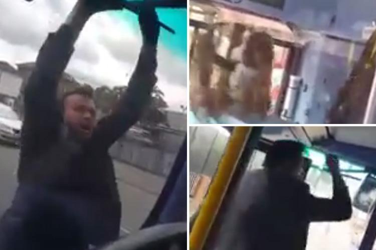 London bus passenger launches into frenzied racist attack as he spits on driver