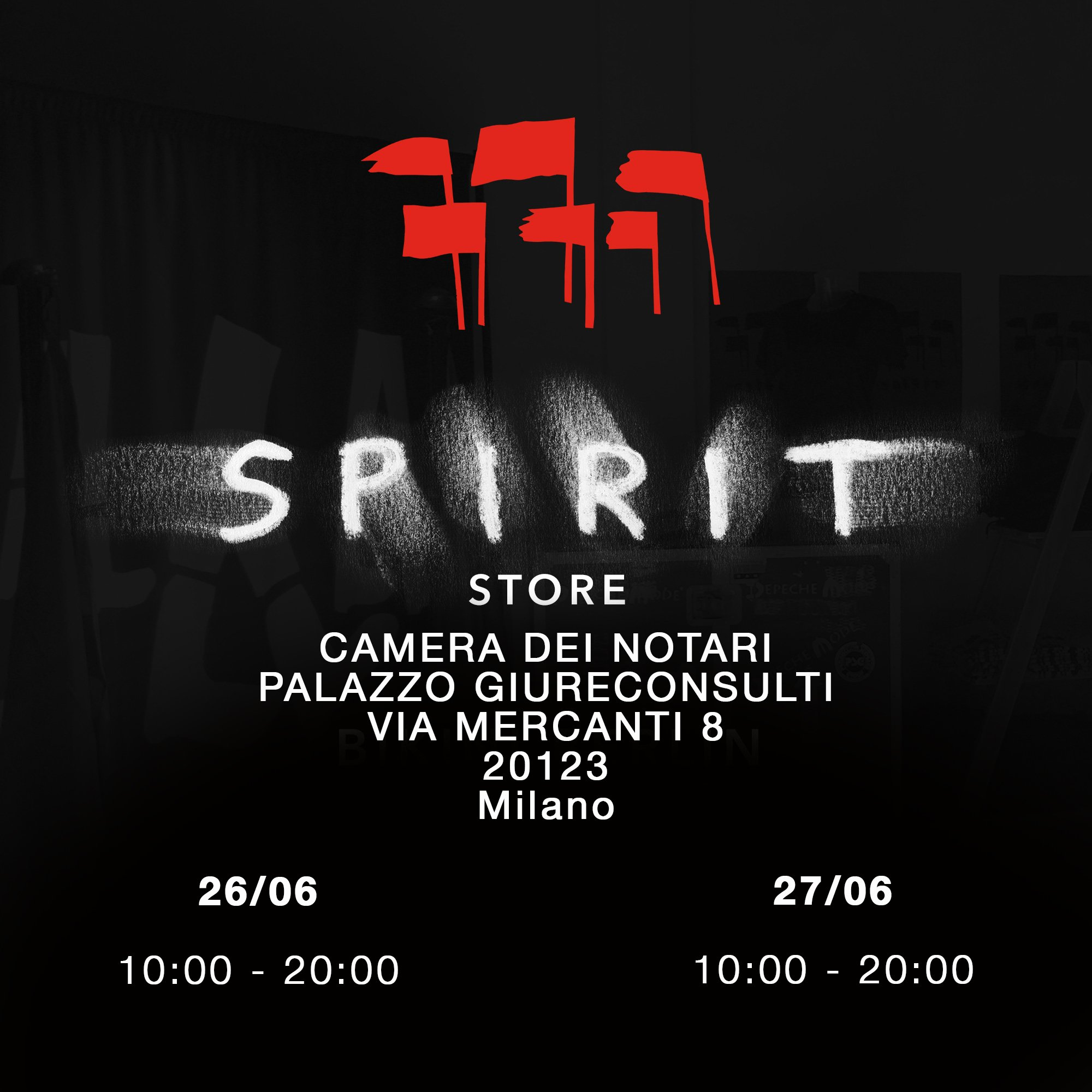 Milano: The Spirit Store is coming... https://t.co/oFBgGDN0Oy
