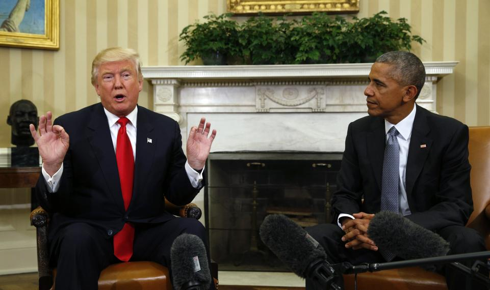 Donald Trump says Barack Obama 'used his word' to describe GOP healthcare bill