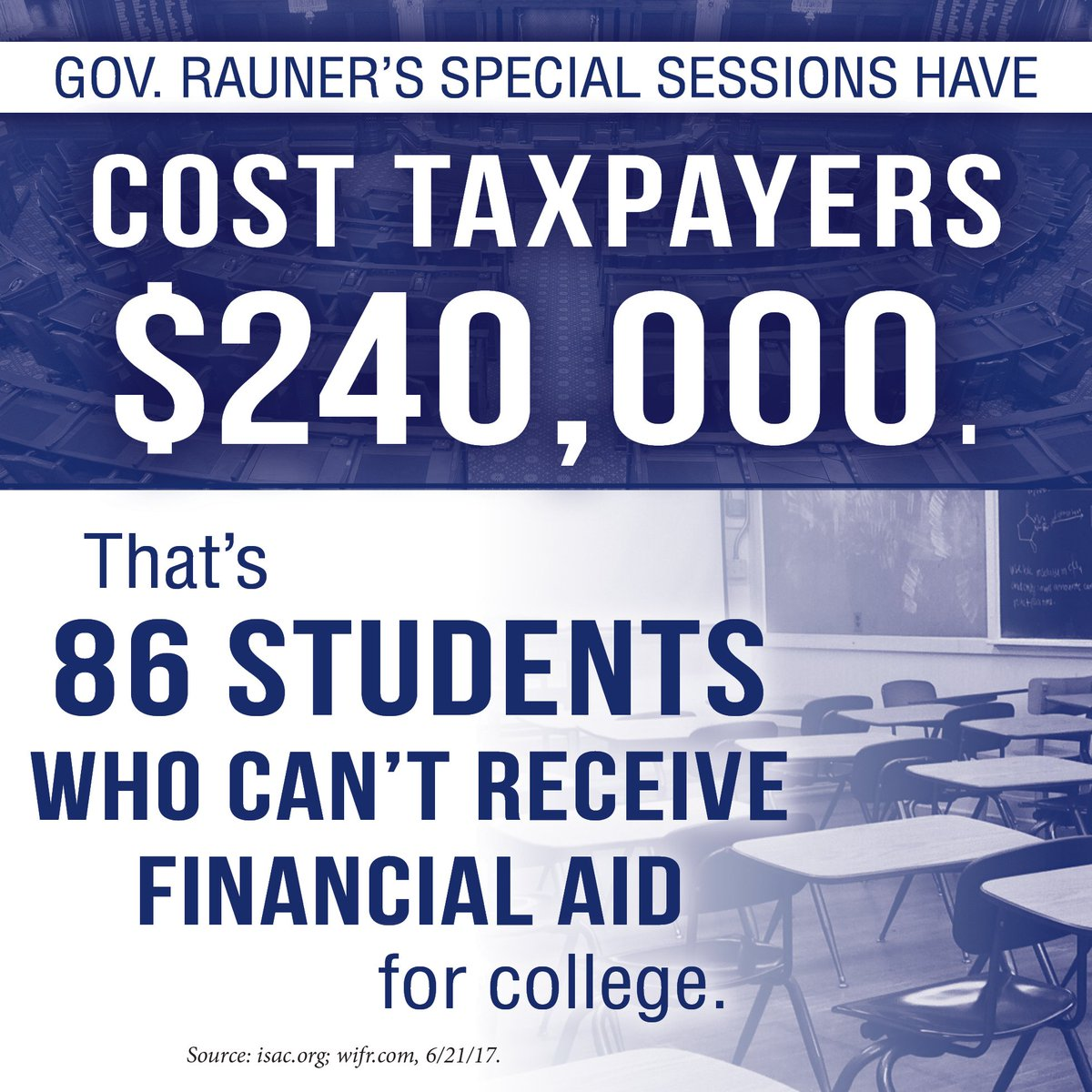 test Twitter Media - While Gov. Rauner continues refusing to negotiate an #ILBudget, his special sessions are costing taxpayers $48k/day. #twill https://t.co/7vwmdYNrE3