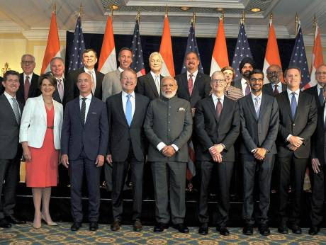 Modi talks to US execs ahead of Trump meet