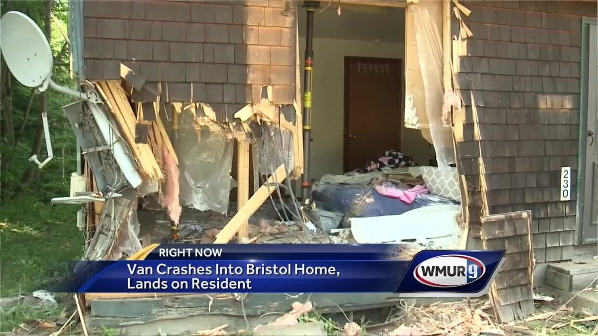 WATCH: Man accused of driving under the influence after crashing into home